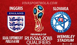 Prediksi Inggris vs Slovakia 5 September 2017