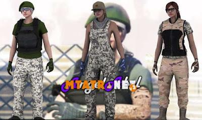 Gun Running Skin Pack Female