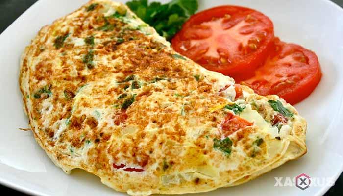 Resep cara membuat omelet sayur