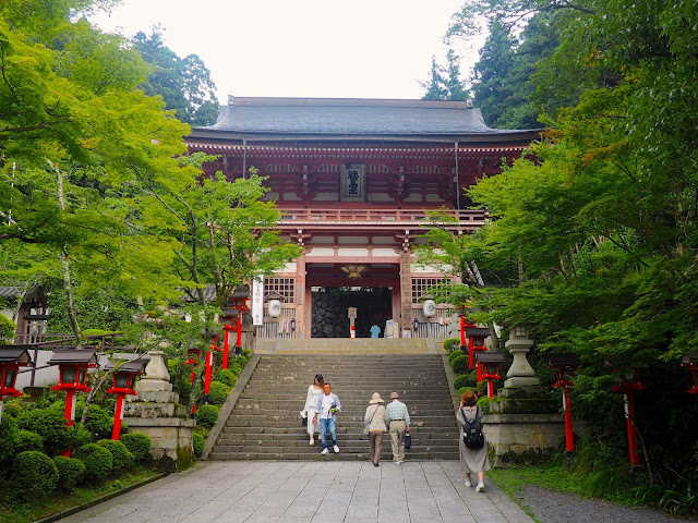 Temple entrance in Kurama, Kyoto, Japan