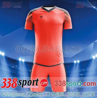 Áo Bóng Đá Không Logo Hot F50 MiZi STA01 Đỏ