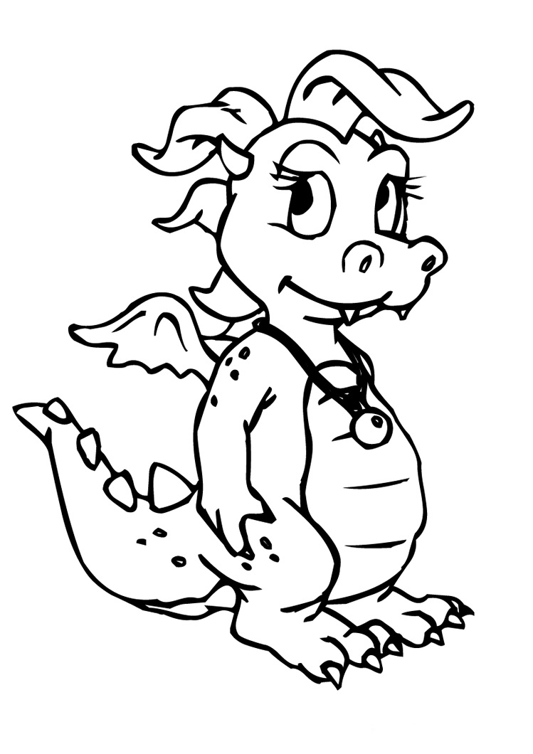 book of dragons coloring pages - photo#21