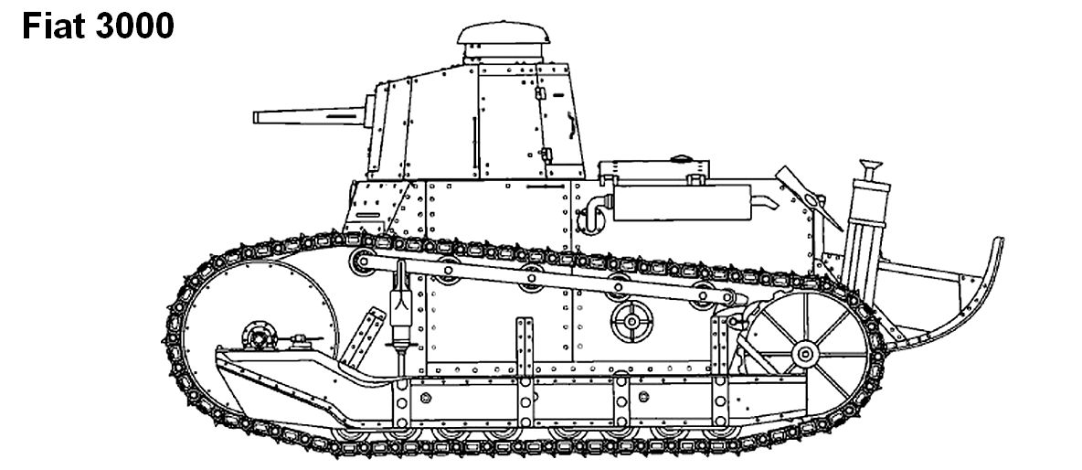 fiat 3000   an italian derivation  armed with cannons and mgs