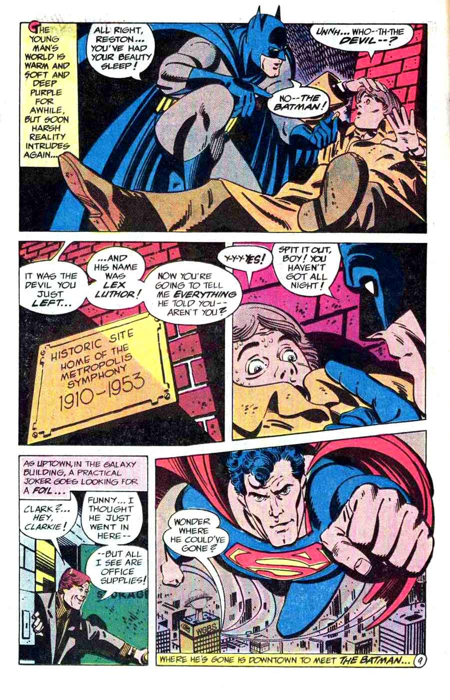 Superman v1 annual #9 dc comic book page art by Alex Toth