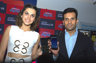 Actress Tapsee Pannu at Samsung Galaxy S8 launch in Bangalore