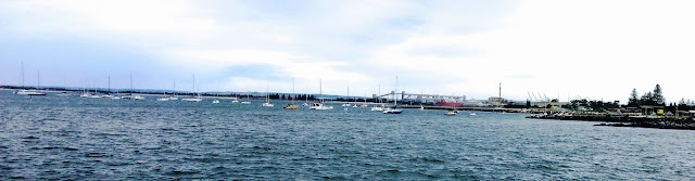 Bunbury Western Australia - view of the Inner Harbour from Dome Cafe