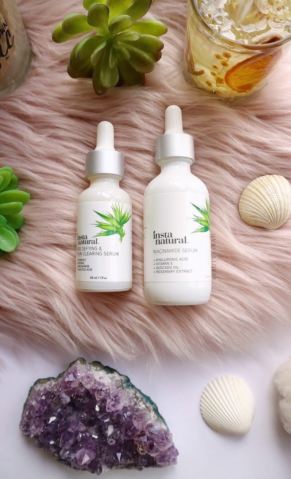 InstaNatural Age defying and skin clearing serum and niacinamide serum review