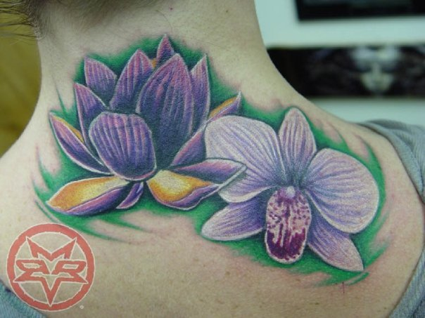 lotus and orchid tattoo