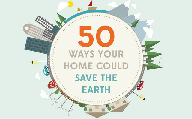 Image: 50 Ways your Home can Save the Earth #infographic