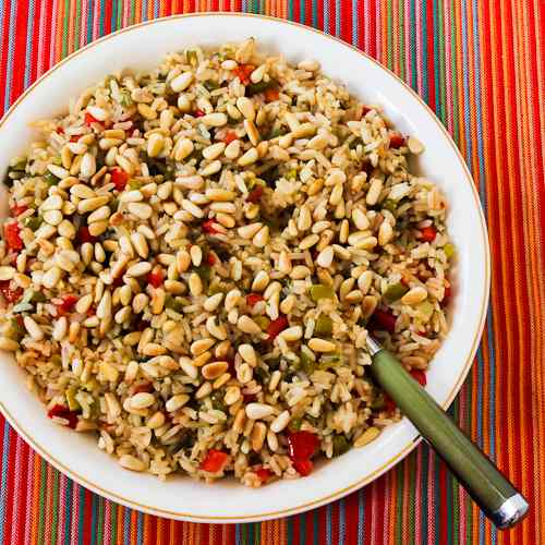 Red And Green Kitchen: Kalyn's Kitchen®: Red And Green Christmas Rice With Bell