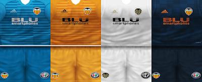PES 6 Kits Valencia CF Season 2018/2019 by VillaPilla