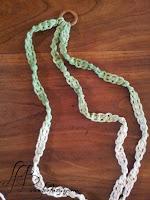 cordes macramé teintées tie and dye