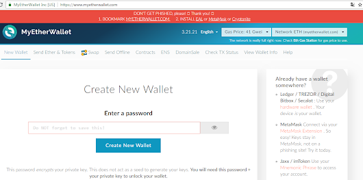 Sky Seventh: Cara Membuat Wallet Ethereum Myetherwallet