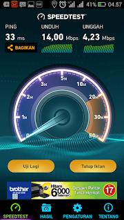 Kecepatan Internet Telkomsel Tengah malam sampai subuh
