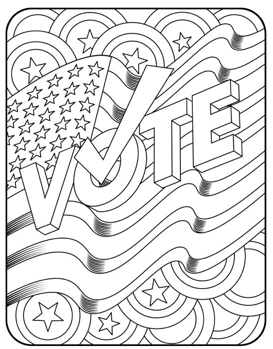 coloring pages election day - photo#9