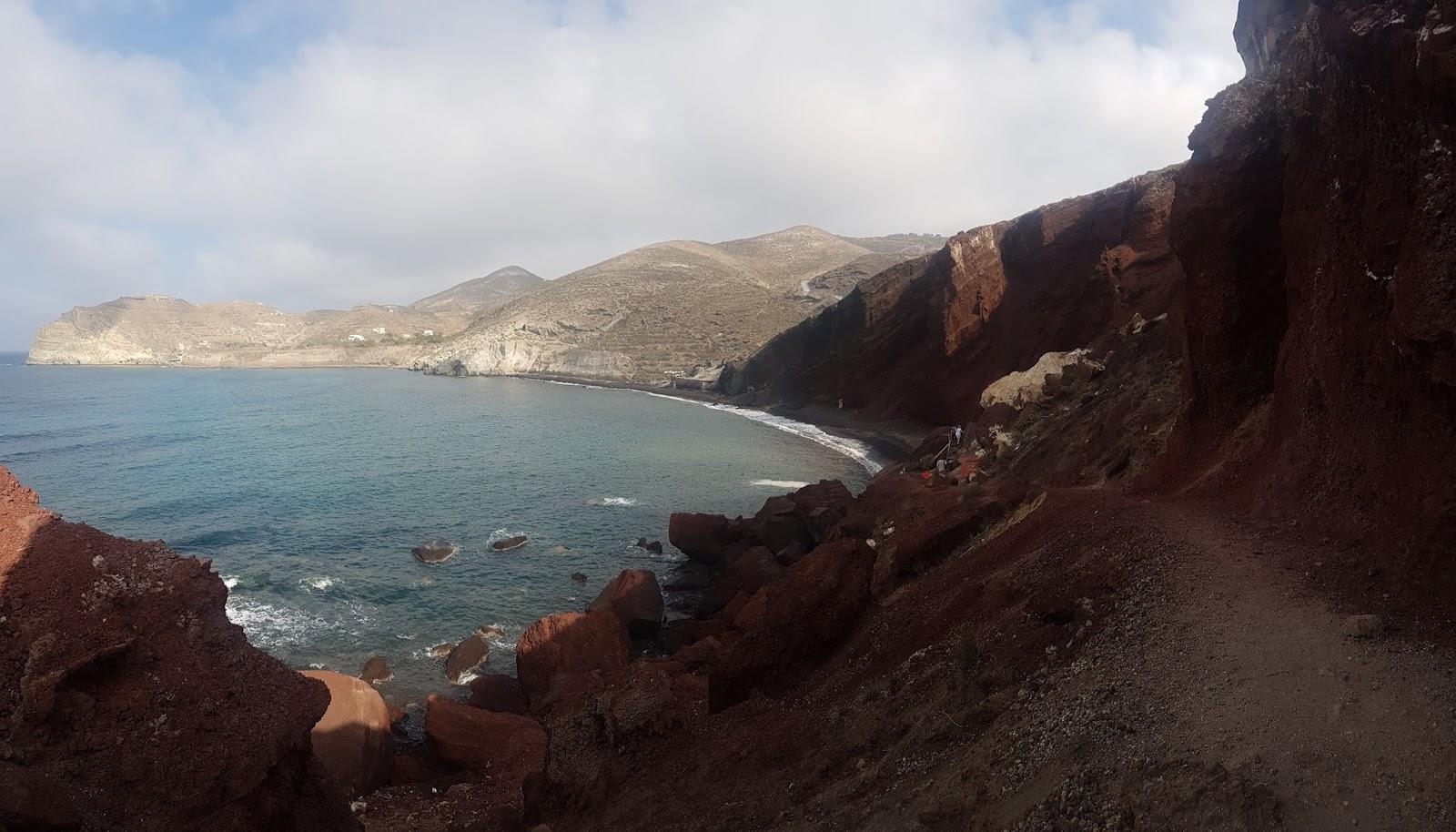 How to visit Akrotiri Red Beach Santorini | Ummi Goes Where?
