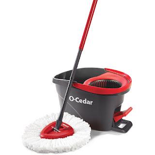 O-cedar easy wring microfiber spin mop