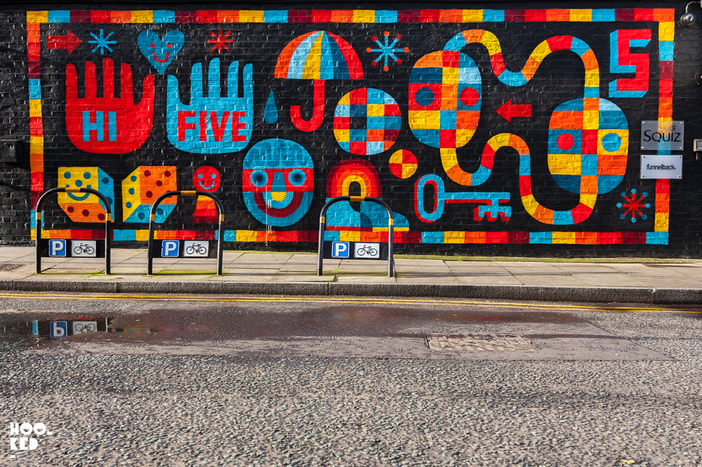 David Shillinglaw, Street Art Mural in London. Photo ©Hookedblog / Mark Rigney