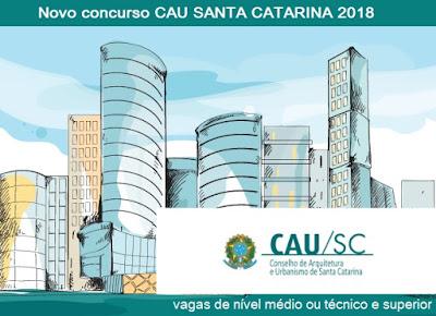 edital do concurso CAU SC 2018
