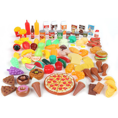pretend play grocery store food
