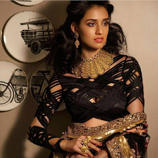 Disha Patani Sizzles in ethnic Designer Choli Saree for HI Blitz December 2016 Bride Special