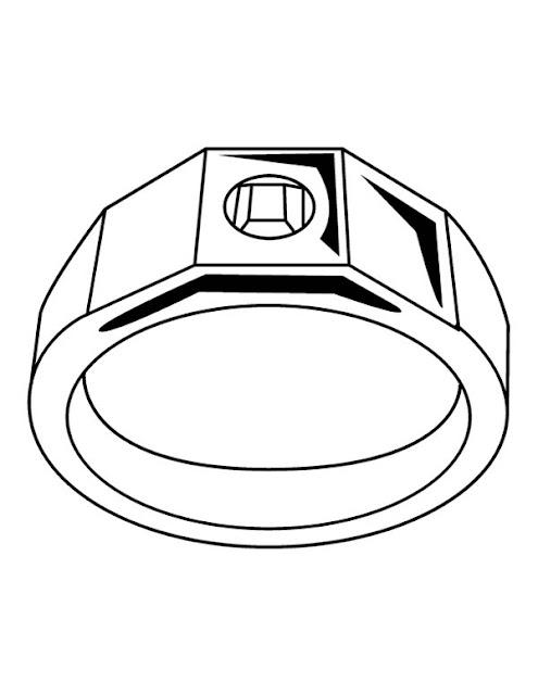 anillo de hombre para colorear
