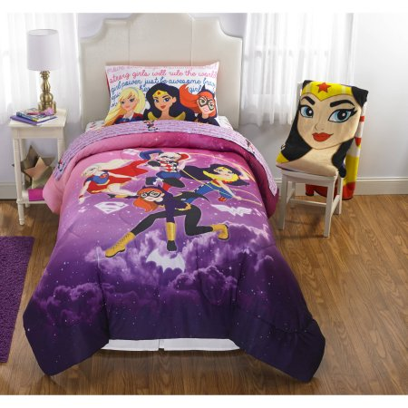 Trend DC Super Hero Girls have released it us own bedding assortment throw blankets forter sheet sets and character pillow pals etc