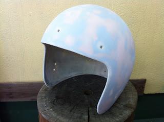 982282260 - カスタムペイント工程  ジェットヘルメット スカル クリアースピニング