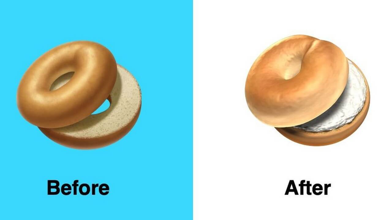 Apple Has Fixed Its Bagel Emoji With Cream Cheese