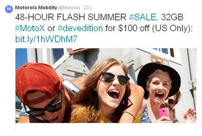 Hanya 48 Jam, Motorola Moto X Didiskon Rp.1,2 Jutaan