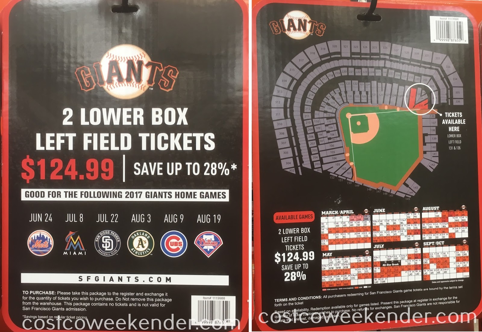 San Francisco Giants Lower Box Left Field tickets: better than sitting nosebleed