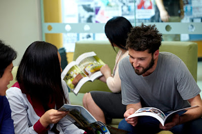 Student studying at Carlton Library
