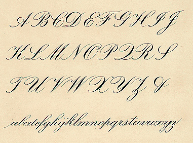 calligraphy writing alphabet examples