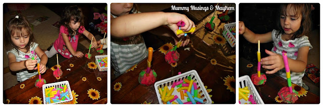 Toddler fine motor threading