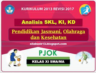 Standar  Kompetensi  Lulusan  adalah  kriteria mengenai  kualifikasi  kemampuan lulusan  y Analisis SKL, KI, KD PJOK Kelas XI SMA Kurikulum 2013 Revisi 2017