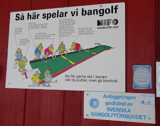 Minigolf rules at Solna Bangolfklubb