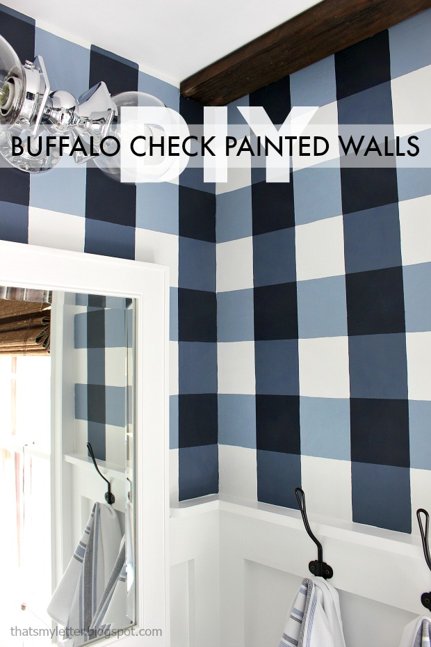 Buffalo Check Painted Walls That S My Letter Bloglovin