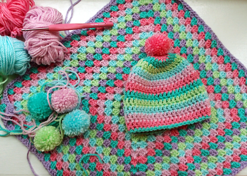Easy Crochet Granny Square Baby Blanket Pattern : Easy crochet granny square baby blanket - CK Crafts
