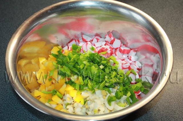 рецепт салата с крабовыми палочками с пошаговыми фото