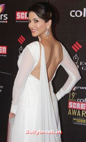 Sunny Leone, Bollywood Actresses Backless Gowns Photos on Red Carpet