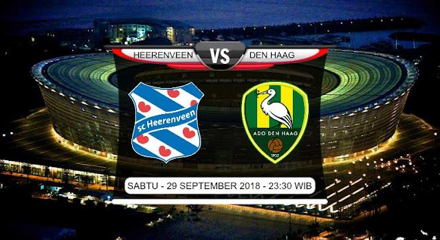 Prediksi Liga Eredivisie Belanda Heerenveen vs Den Haag 29 September 2018 Pukul 23.30 WIB