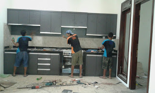 kitchen set berbahan hpl malang