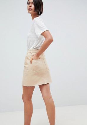 Denim Skirt Asos Stone Wash