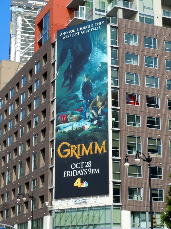 Giant Grimm TV billboard