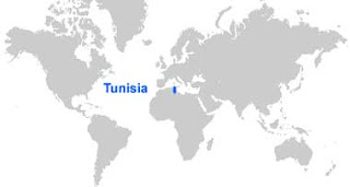 Gambar Peta letak Tunisia