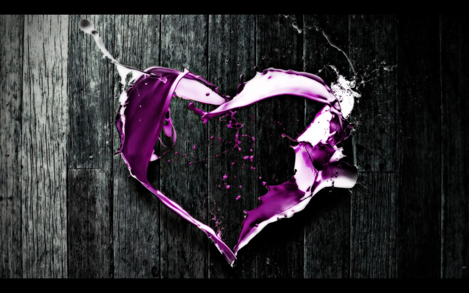 Purple And Black Hearts Wallpaper: Purple Heart Abstract Art HD Wallpaper