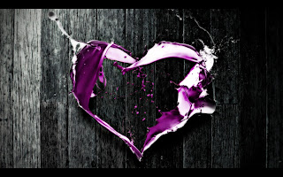 Purple Colour Heart Abstract Art HD Wallpaper
