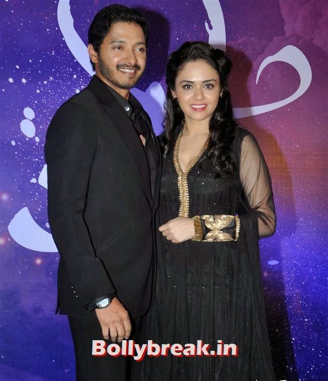 Shreyas Talpade and Amruta Khanvilkar, Amruta  & Shreyas at Marathi Film Baji Launch