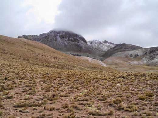 Schneebedeckte Anden