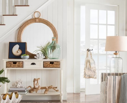 Decorating Ideas with Rope Mirrors for Coastal and Nautical Style Living